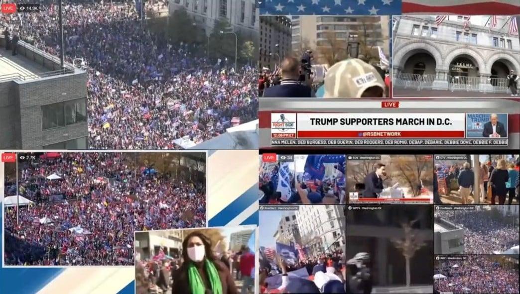 大批民眾湧入華盛頓,力挺川普總統