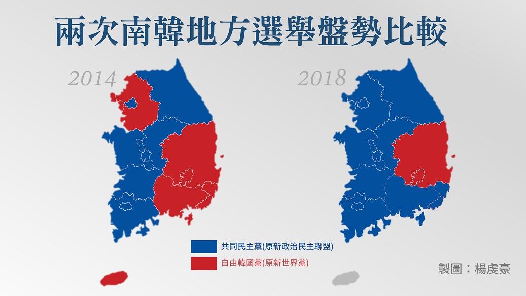 2018南韓地方選舉:保守派崩盤