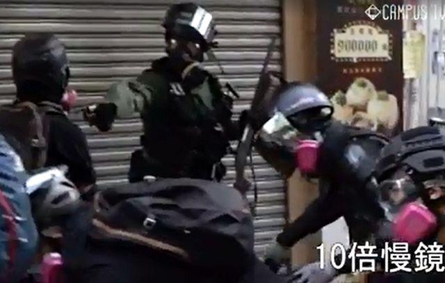 香港警察開槍之後