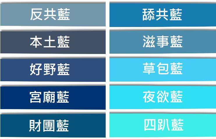 形狀各異的藍
