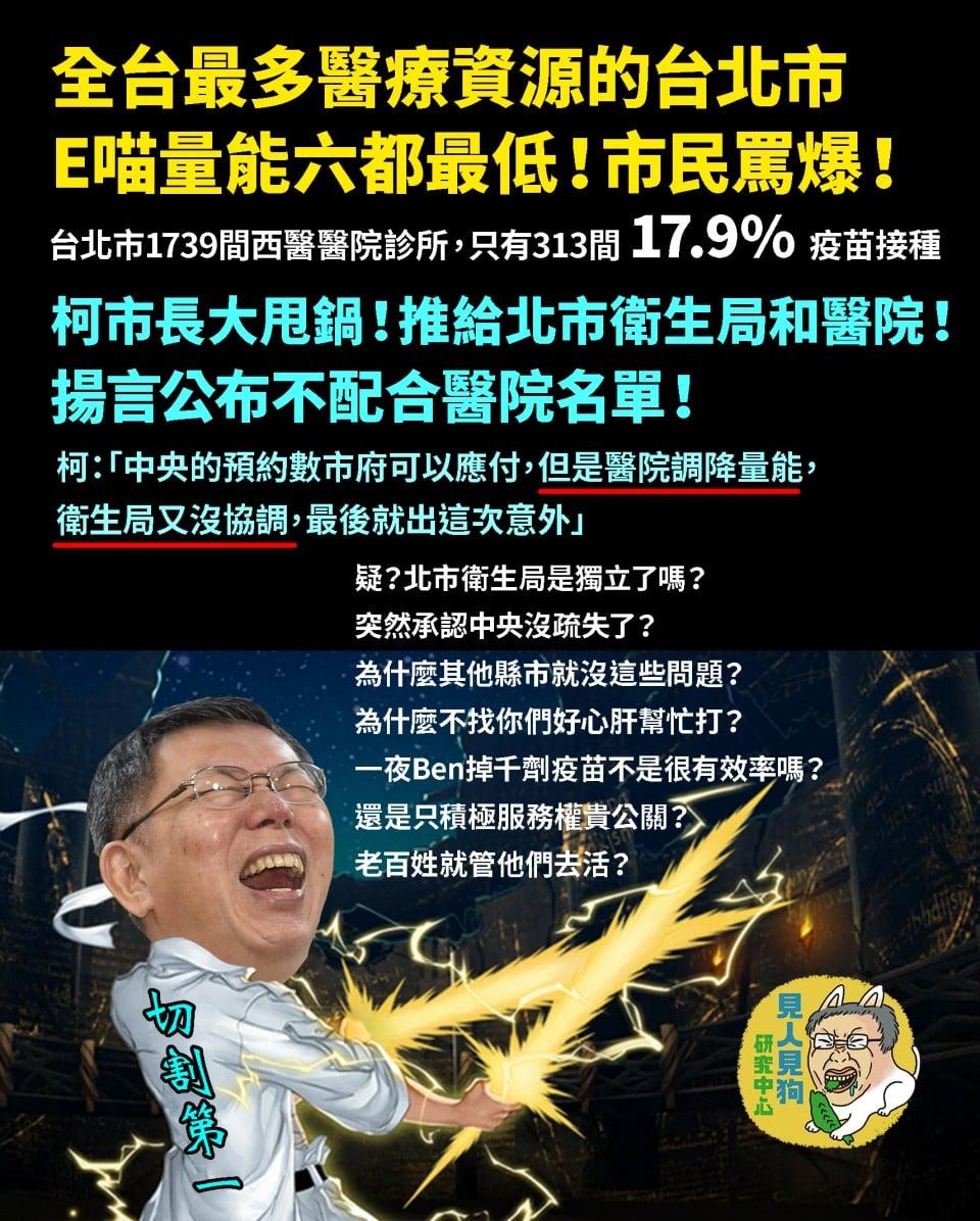 台北市衛生局獨立了嗎?