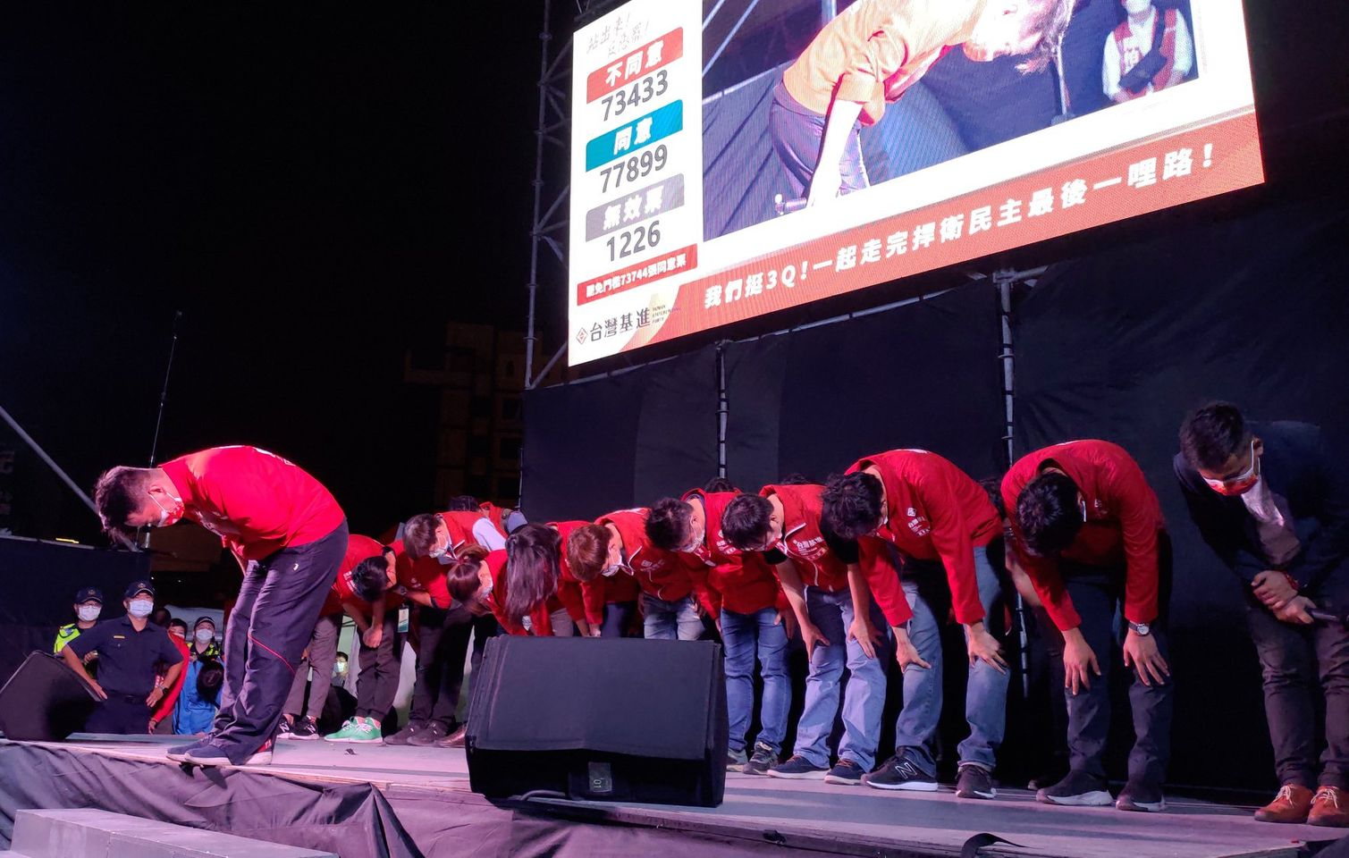 感謝鄉親,相信民主,守護台灣